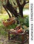 Romantic Picnic Under Olive...
