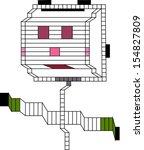 robot on a white background   Shutterstock .eps vector #154827809