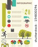 healthy lifestyle infographic | Shutterstock .eps vector #154830296