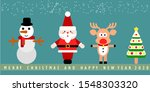 cartoon christmas card... | Shutterstock .eps vector #1548303320
