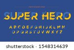 futuristic yellow blue artistic ... | Shutterstock .eps vector #1548314639