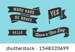 ribbon banner. set of black... | Shutterstock . vector #1548320699