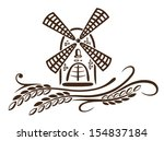 colorful mill and grain  bakery ... | Shutterstock .eps vector #154837184