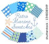 retro marine swatches | Shutterstock .eps vector #154838549