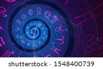 background with spiral symbols... | Shutterstock .eps vector #1548400739