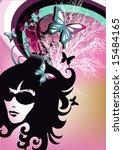 retro girl | Shutterstock .eps vector #15484165