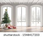 Classical Empty Room Decorate...