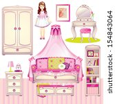 girls room | Shutterstock .eps vector #154843064