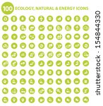 natural and ecology icons green ...