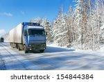 winter freight transportation... | Shutterstock . vector #154844384