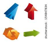 arrows infographics  over white ...   Shutterstock .eps vector #154847834