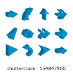arrows design over white... | Shutterstock .eps vector #154847900