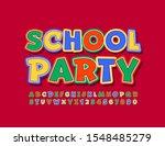 Vector Bright Poster School...