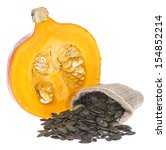 portion of isolated pumpkin... | Shutterstock . vector #154852214