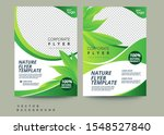 vector eco flyer  poster ... | Shutterstock .eps vector #1548527840