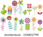 vector collection of funky... | Shutterstock .eps vector #154852799