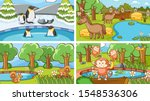 background scenes of animals in ... | Shutterstock .eps vector #1548536306