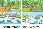 background scenes of animals in ... | Shutterstock .eps vector #1548536396