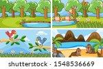 background scenes of animals in ...   Shutterstock .eps vector #1548536669