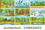 background scenes of animals in ... | Shutterstock .eps vector #1548536693