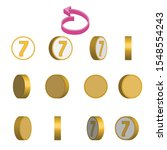 number 7 in circle rotation...   Shutterstock .eps vector #1548554243