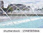 Spray Fountain In The Center Of ...