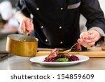 chef in hotel or restaurant... | Shutterstock . vector #154859609