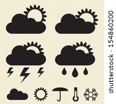 illustrations of weather icons...