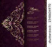 vintage background mandala card ... | Shutterstock .eps vector #1548604970