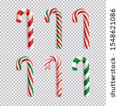 realistic christmas candy cane... | Shutterstock .eps vector #1548621086