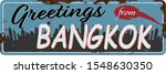 greetings from bangkok vintage... | Shutterstock .eps vector #1548630350