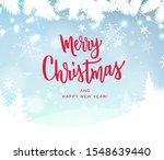 merry christmas hand lettering... | Shutterstock .eps vector #1548639440