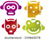 rock animals | Shutterstock .eps vector #154865078