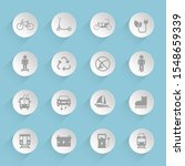 eco transport vector icons on...