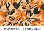 modern exotic jungle plants...   Shutterstock .eps vector #1548674030