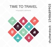 time to travel infographic 10... | Shutterstock .eps vector #1548689903
