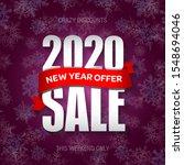 new year 2020 sale badge  label ...   Shutterstock .eps vector #1548694046