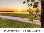Sundown Scenery At Lake...