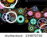 abstract cogs  | Shutterstock . vector #154870730