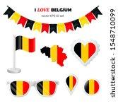 belgium symbols attributes.... | Shutterstock .eps vector #1548710099