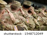 US soldier salute. US army. US troops. Military of USA. Veterans Day