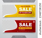 set of sale banner template... | Shutterstock .eps vector #1548728150