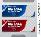 set of sale banner template... | Shutterstock .eps vector #1548728210