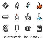 set of black vector icons ... | Shutterstock .eps vector #1548755576