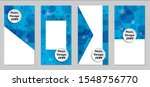 modern tech covers with blue...   Shutterstock .eps vector #1548756770