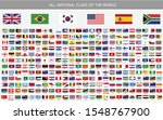 all national flags vector of... | Shutterstock .eps vector #1548767900