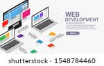 web development isometric...