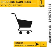shopping cart icon with solid...
