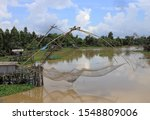 Small photo of Unflattering fishing tools of the villagers At Khlong Bang Pra Phatthalung.