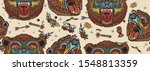 bear head seamless pattern. old ...   Shutterstock .eps vector #1548813359